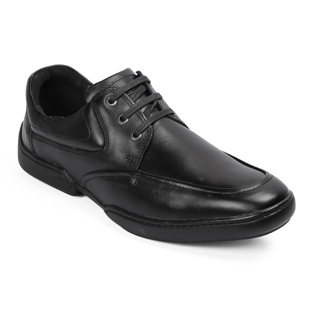 black casual leather shoes online