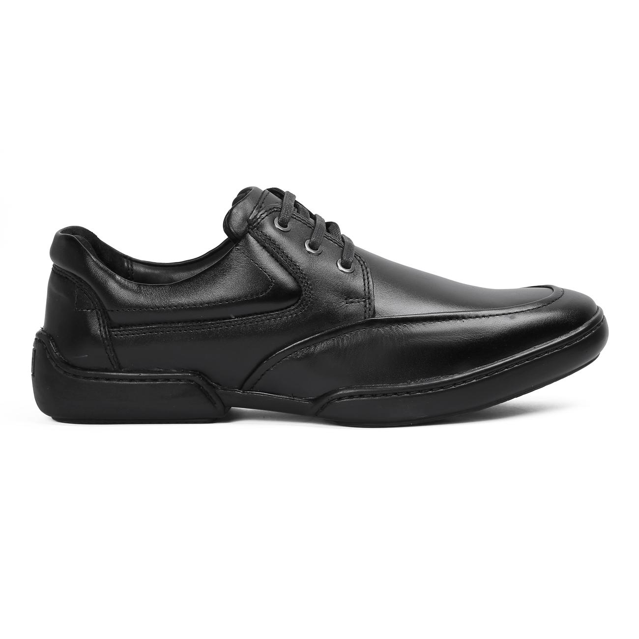 buy black casual leather shoes side view_1