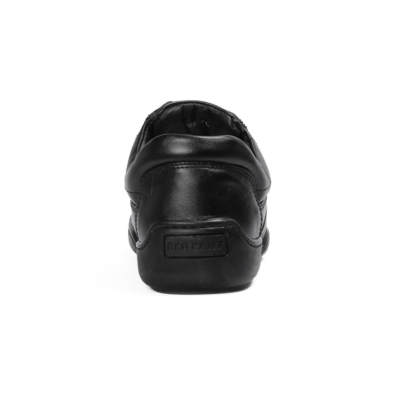black casual leather shoes side view_2