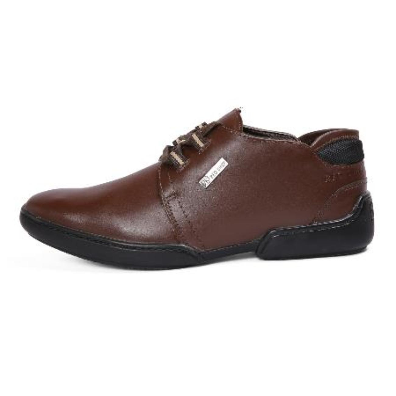 brown casual leather shoes side view_2