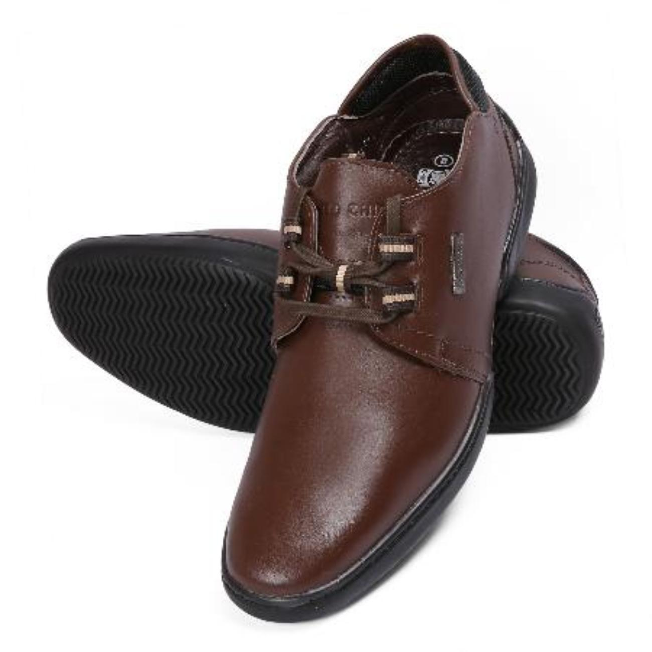 brown casual leather shoes rubber sole