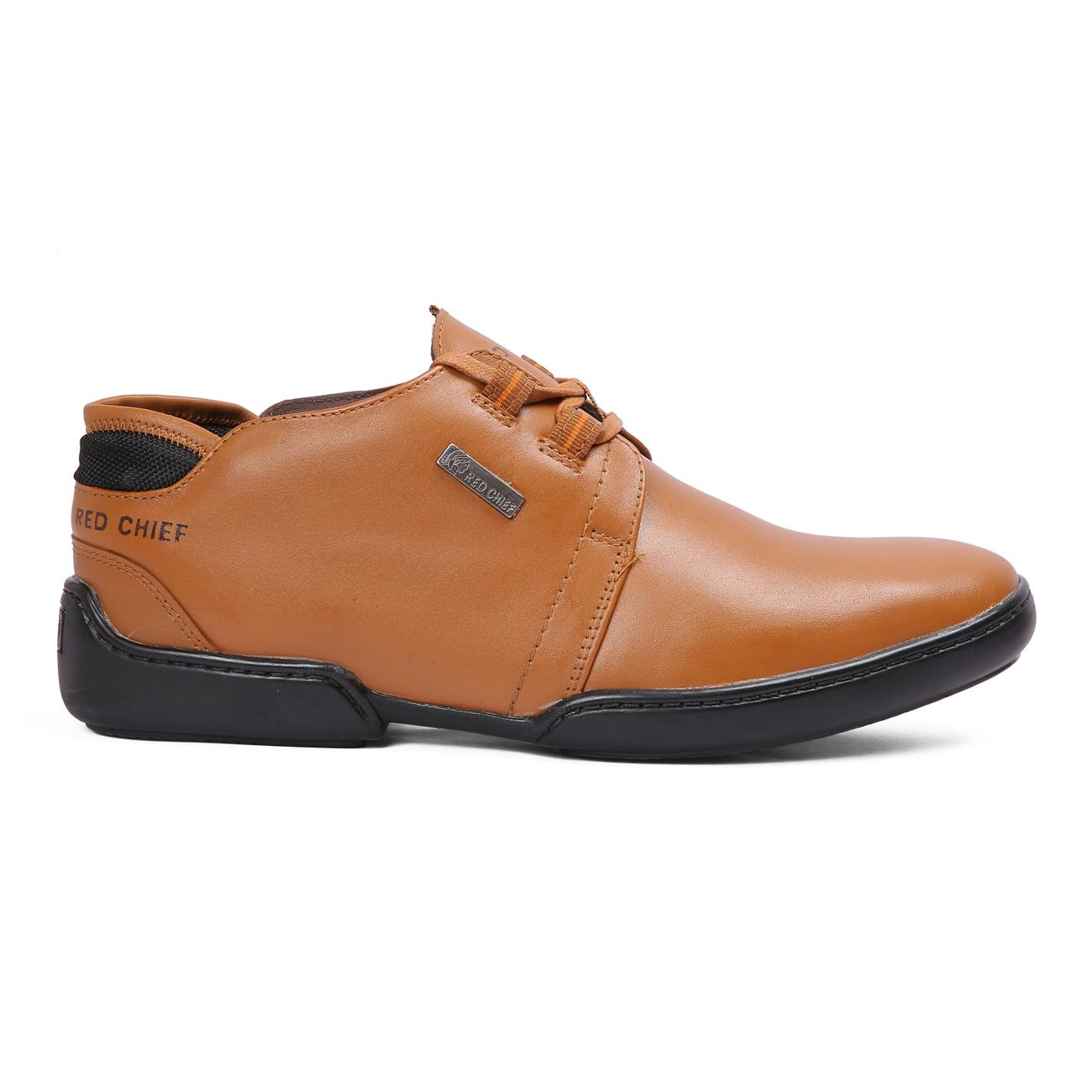 buy n tan casual leather shoes side view_1