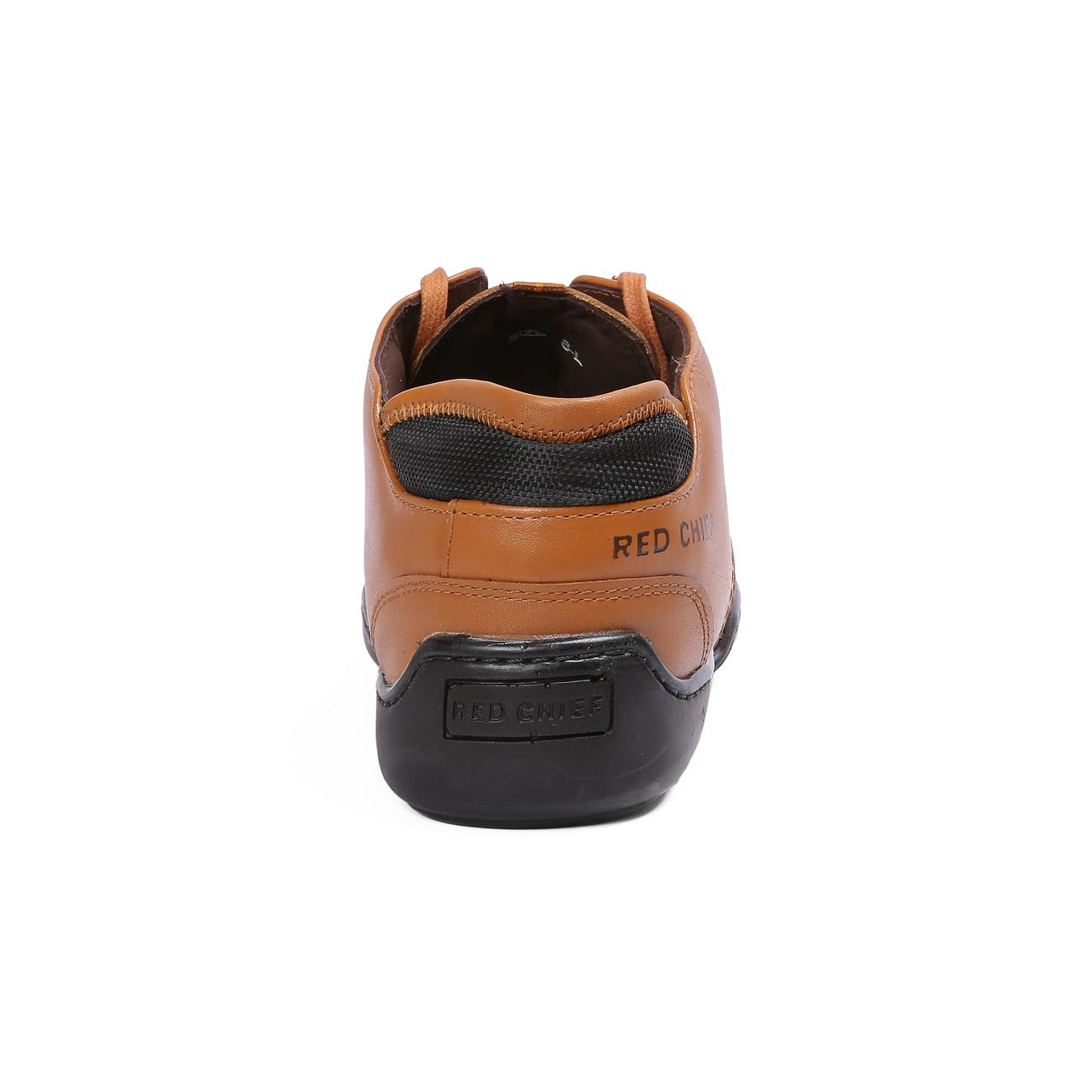 n tan casual leather shoes side view_2
