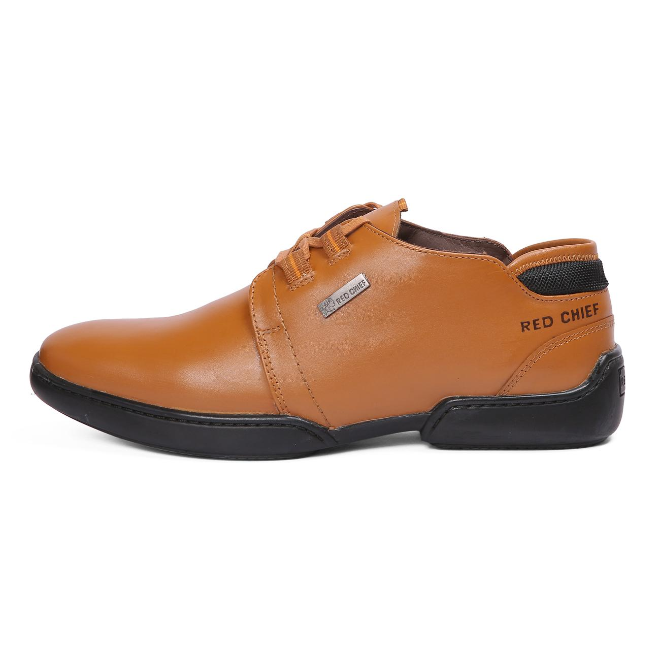 n tan casual leather shoes rubber sole