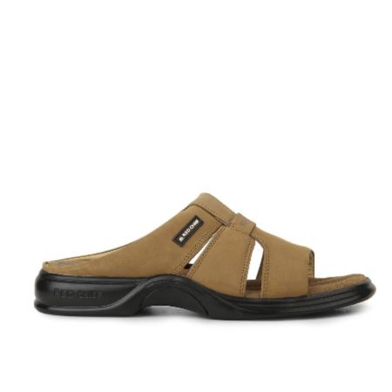 buy rust slip-on slippers side view_1