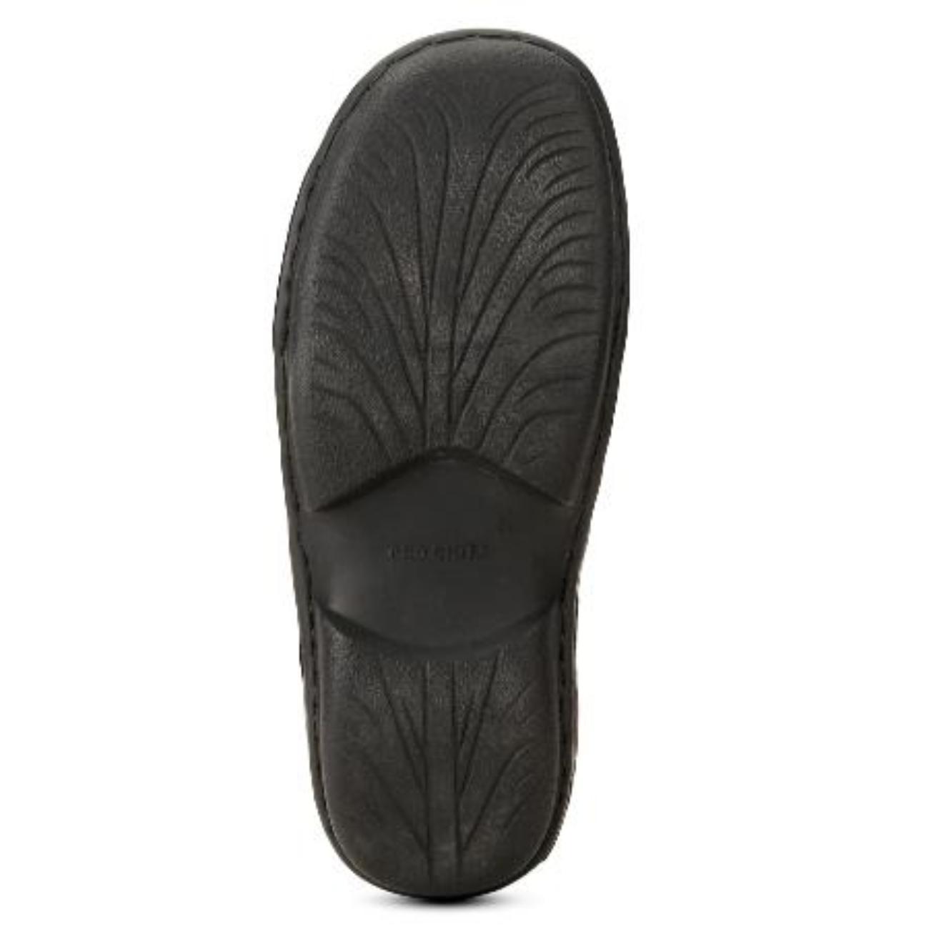 black slip-on slippers rubber sole