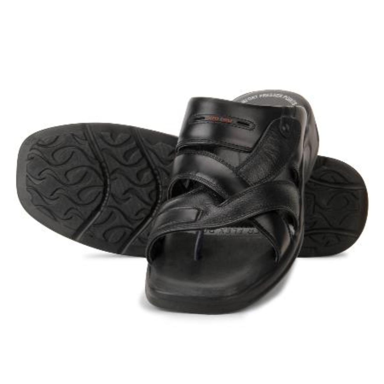 black original slip-on slippers