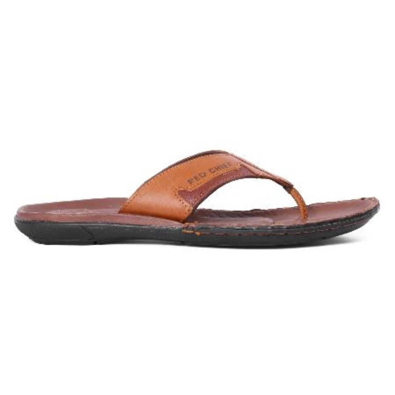 buy tan slip-on slippers side view_1