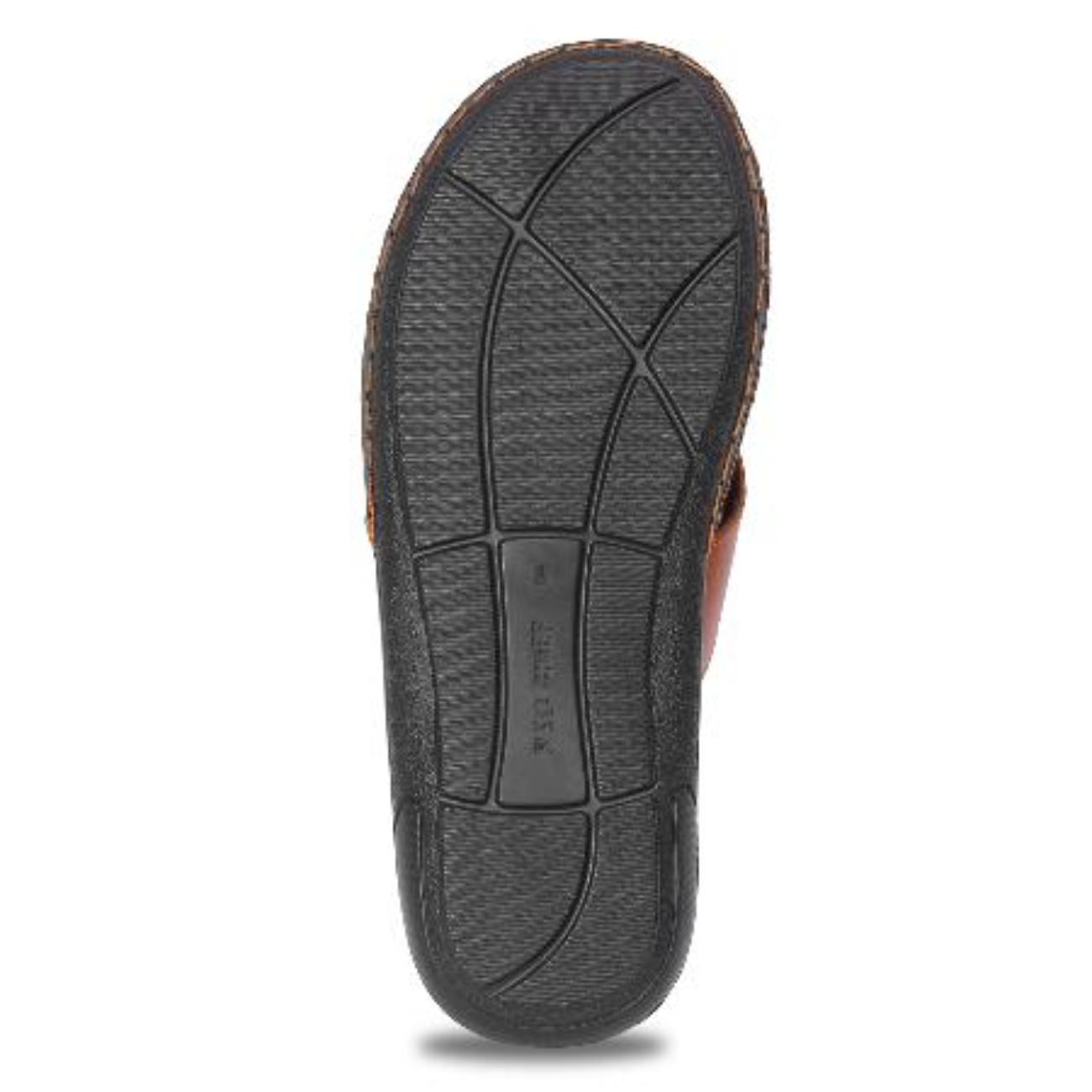 tan slip-on slippers rubber sole