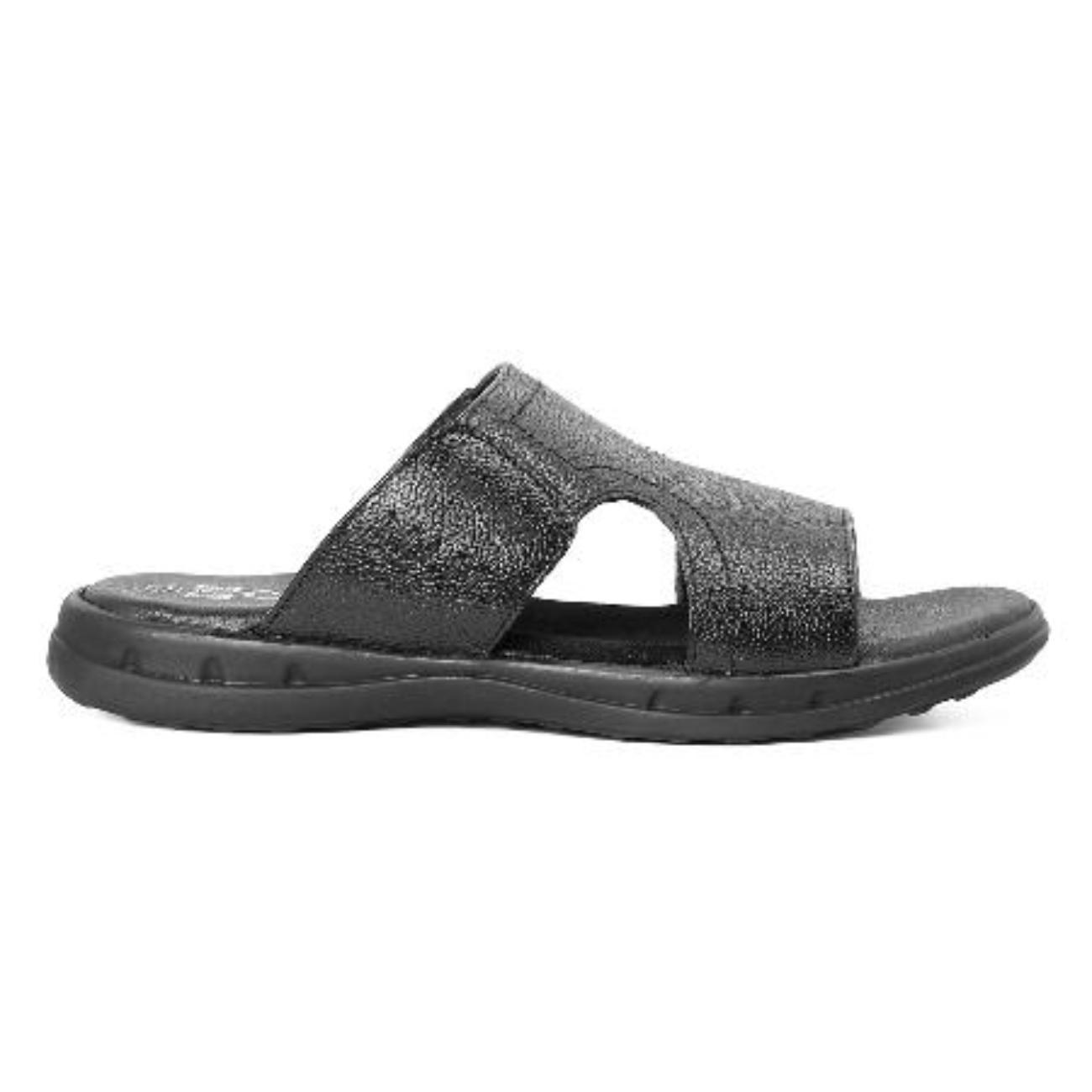 buy black slip-on sandals side view_1