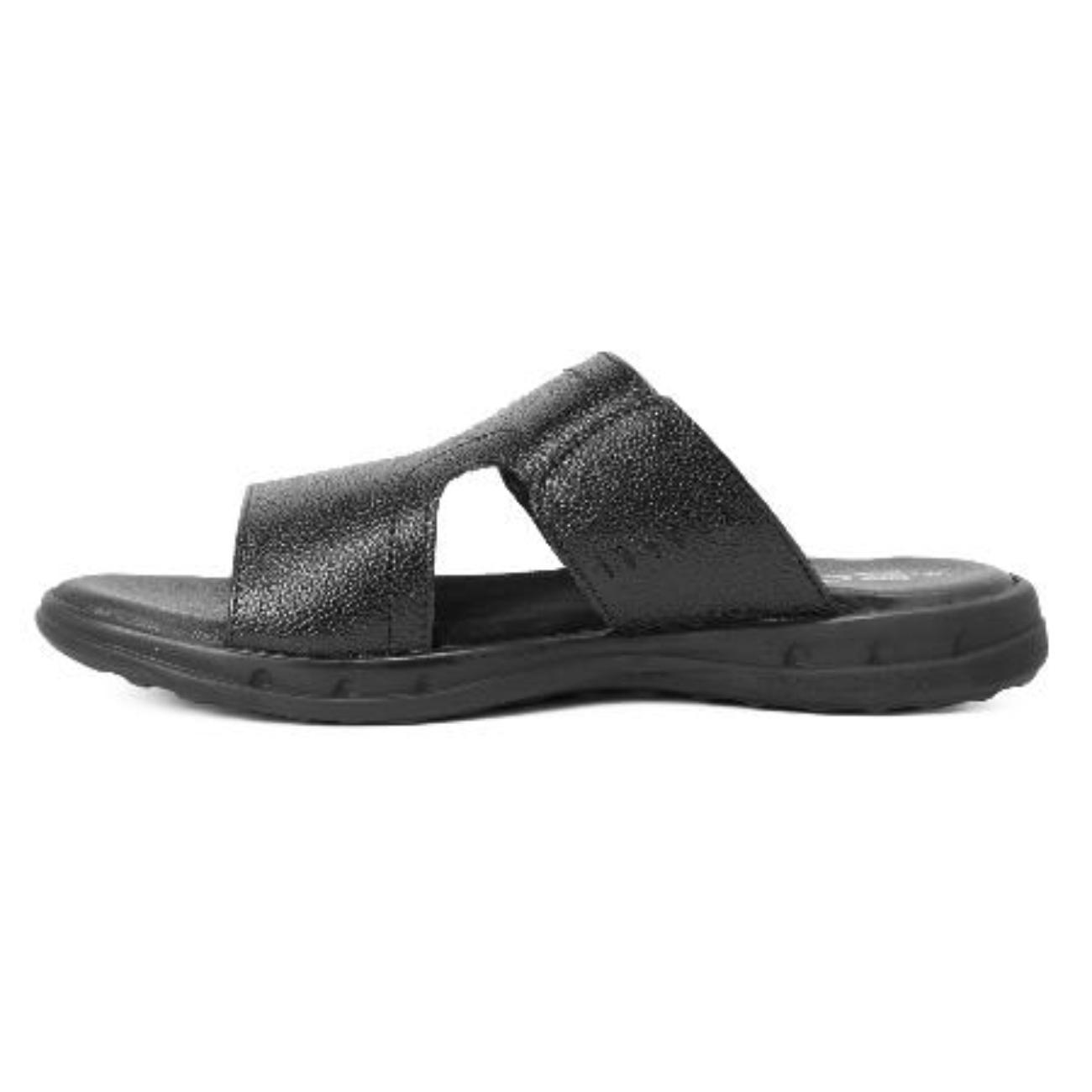 black slip-on sandals side view_2