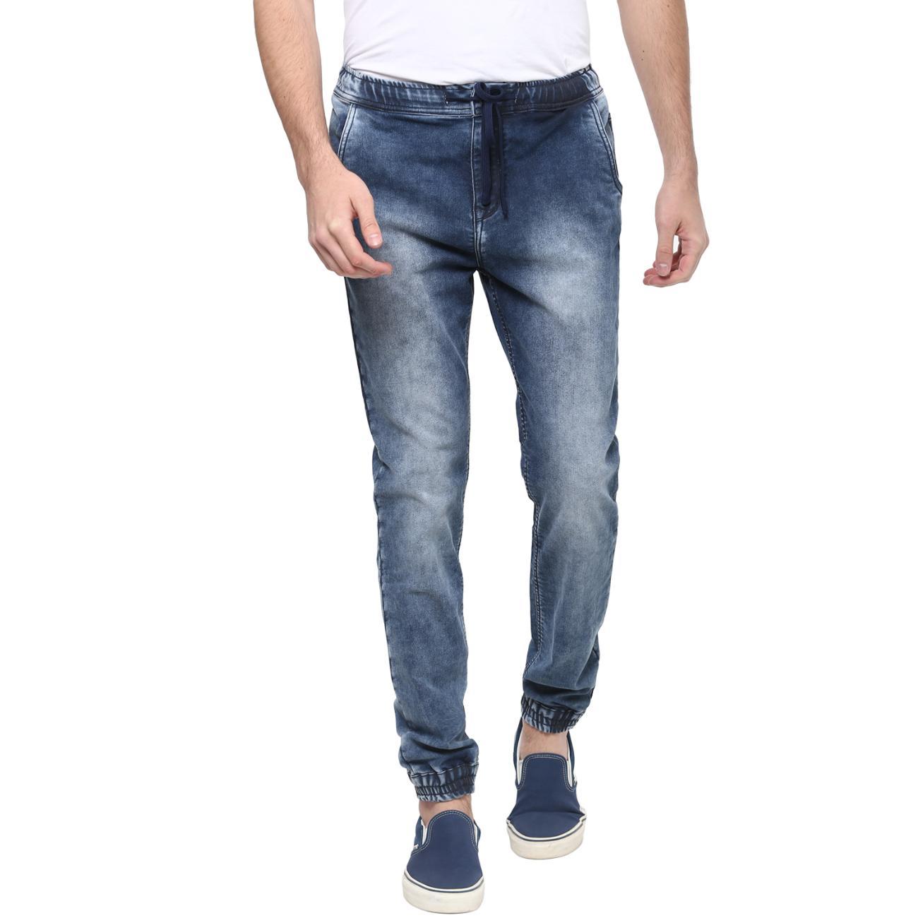 Shop Online Blue Denim Joggers