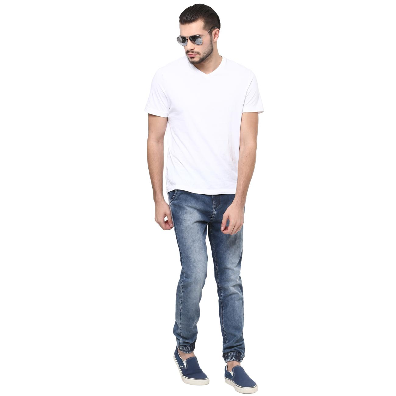 Shop Online Blue Denim Joggers at Red Chief