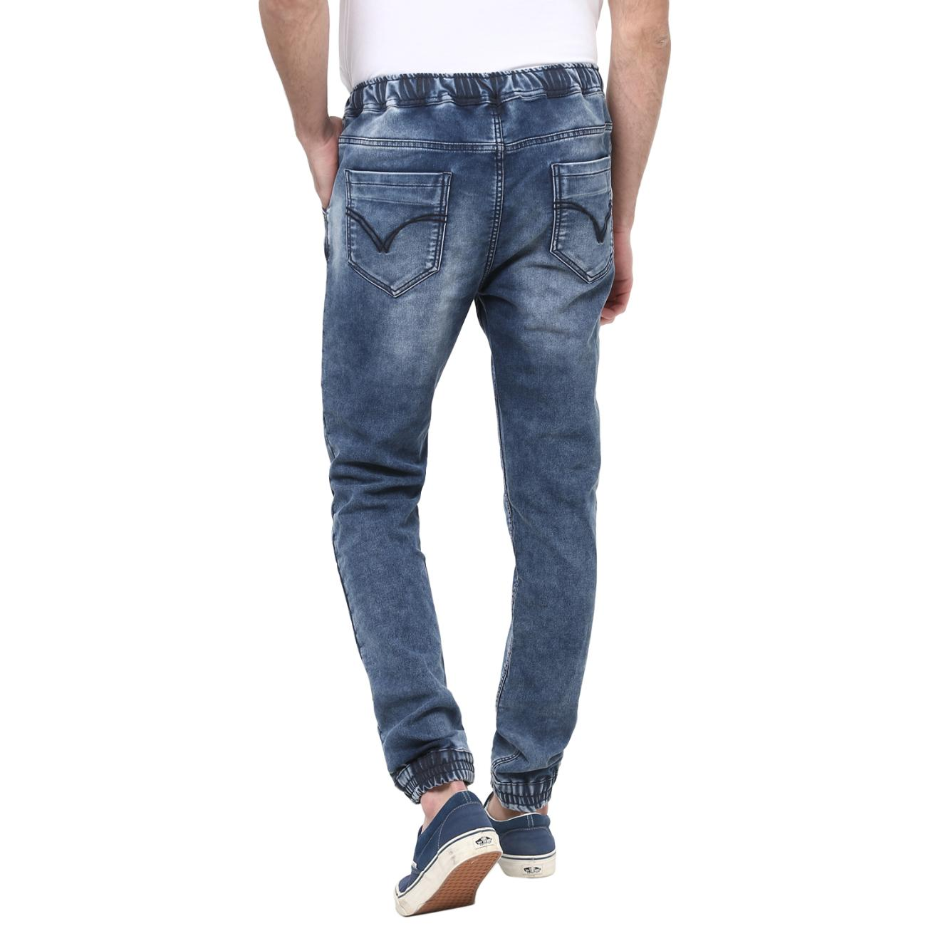 Red Chief's Blue Denim Joggers Online