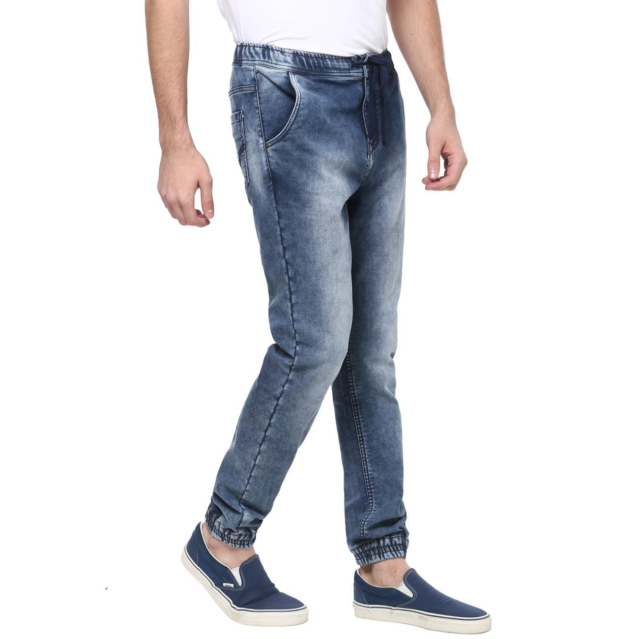 Buy Blue Denim Joggers for Men