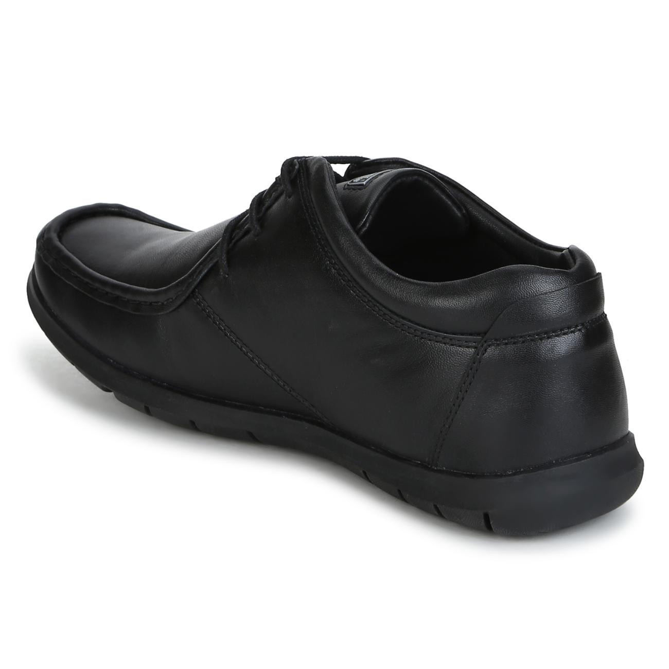 buy black leather lace up formal shoes side view_1