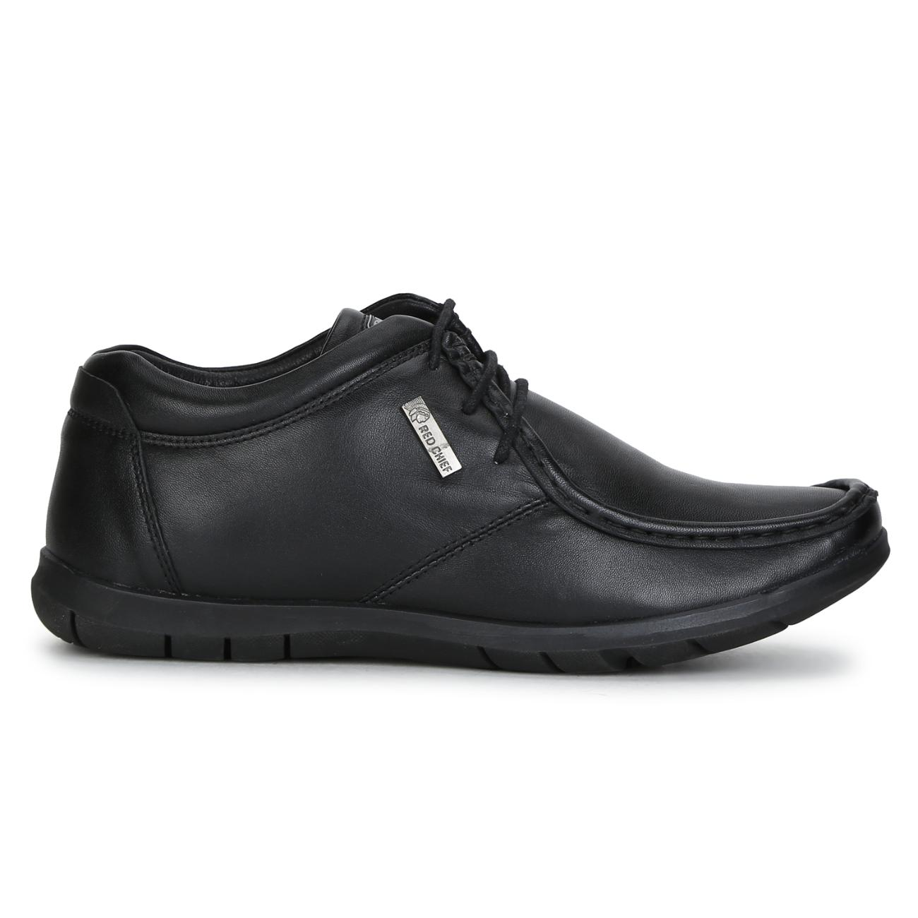 black leather lace up formal shoes side view_2