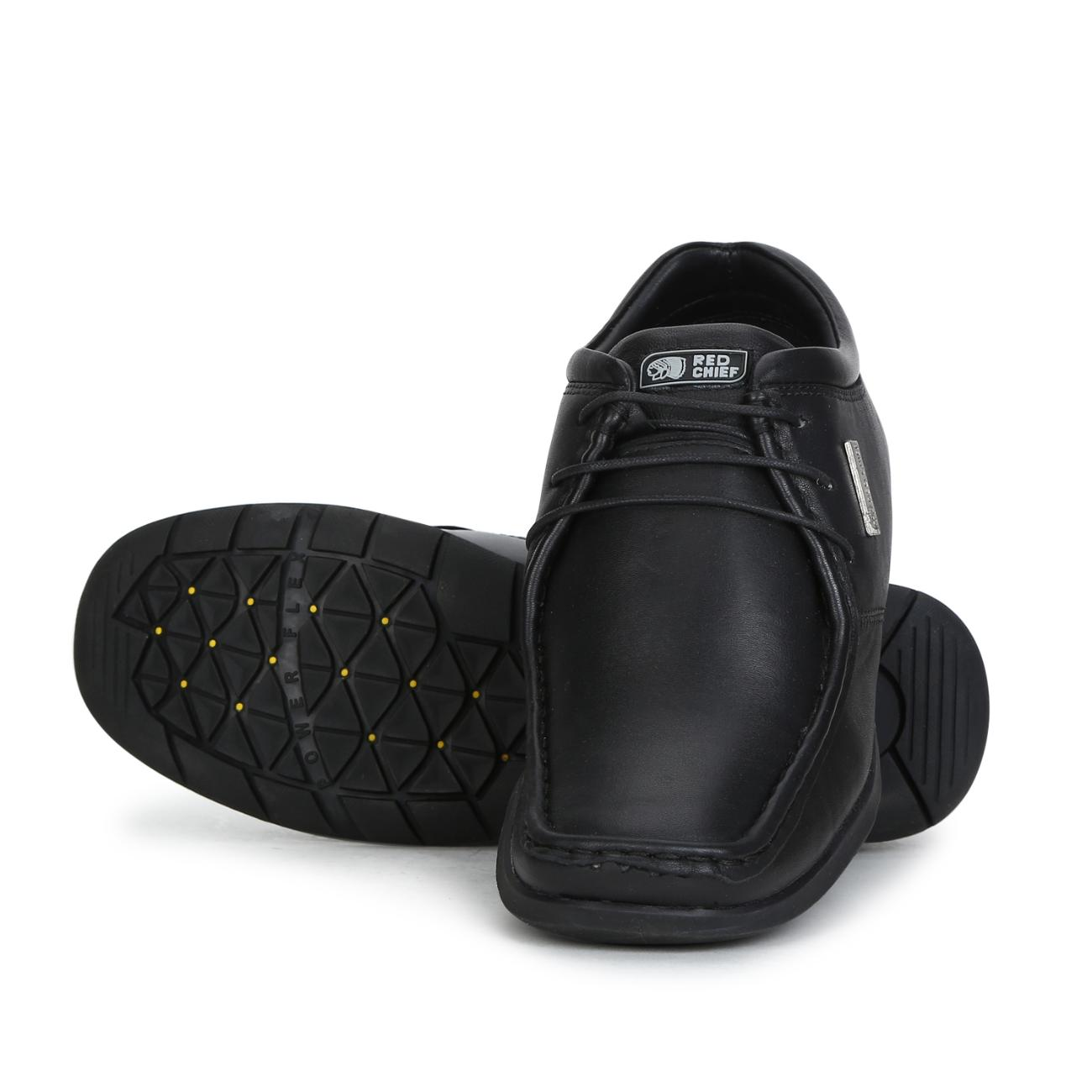 black leather lace up formal shoes rubber sole