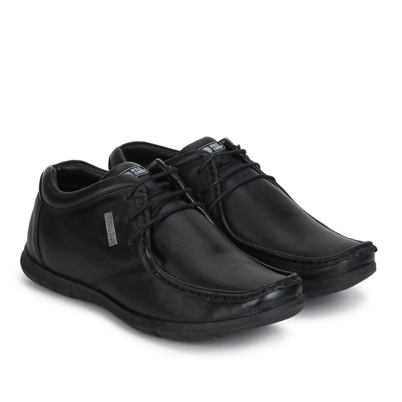 black original leather lace up formal shoes