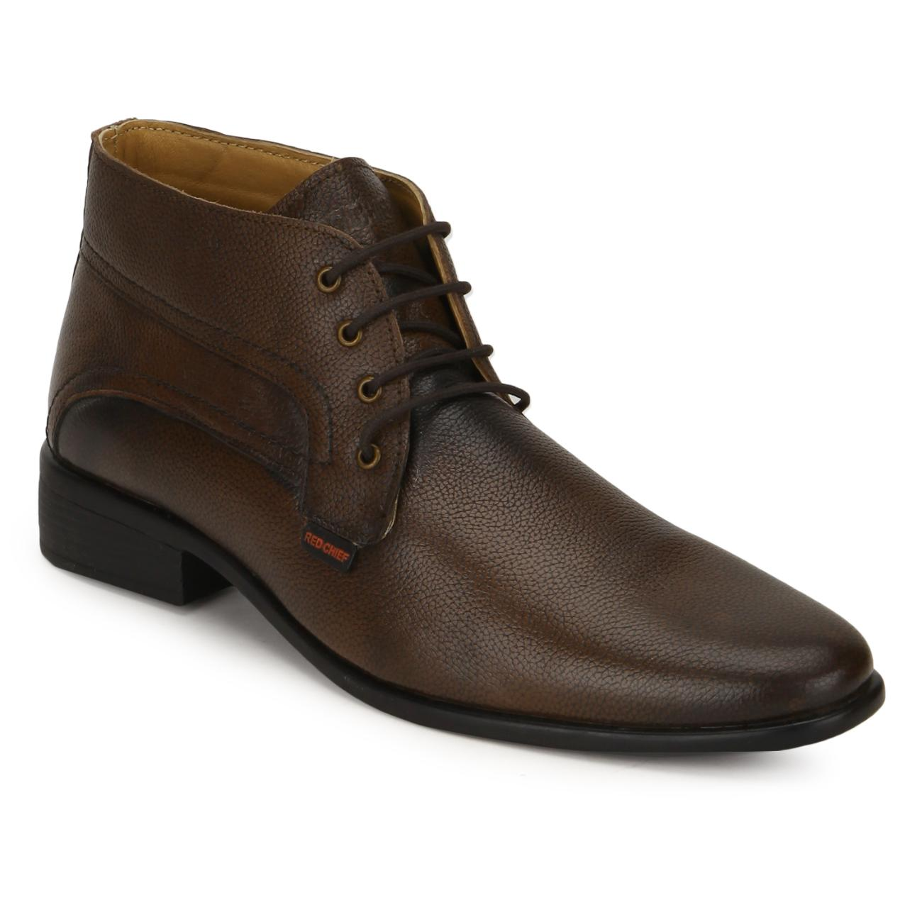 brown leather lace up formal shoes online
