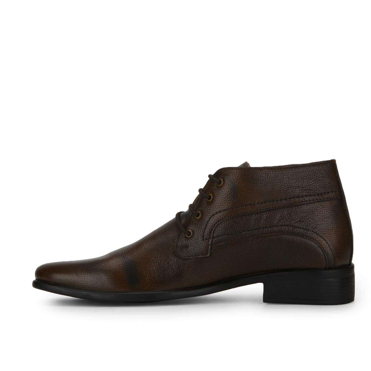 brown leather lace up formal shoes side view_2