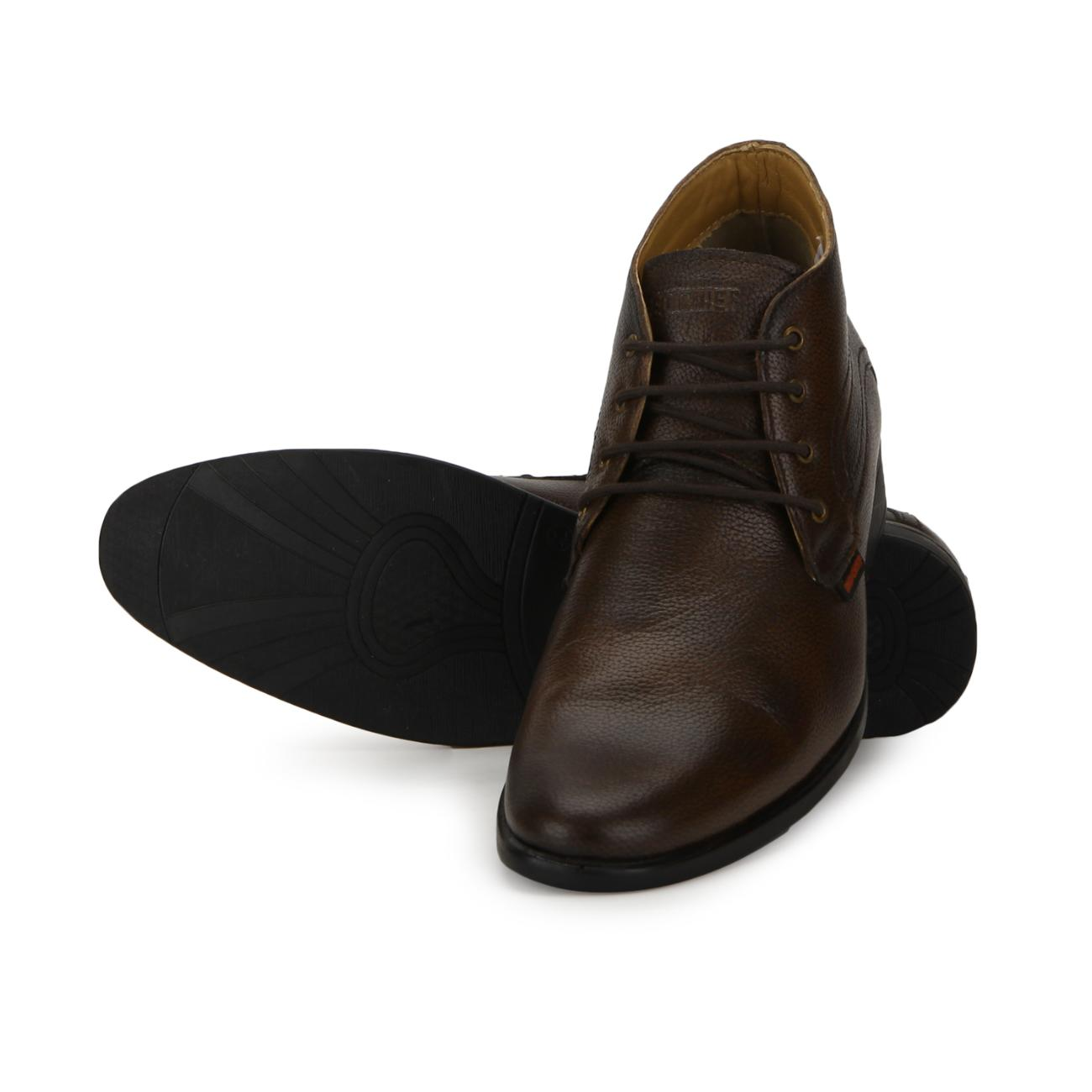 brown original leather lace up formal shoes