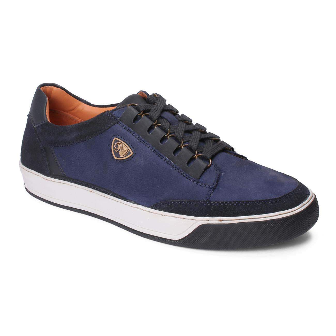 blue casual leather shoes online