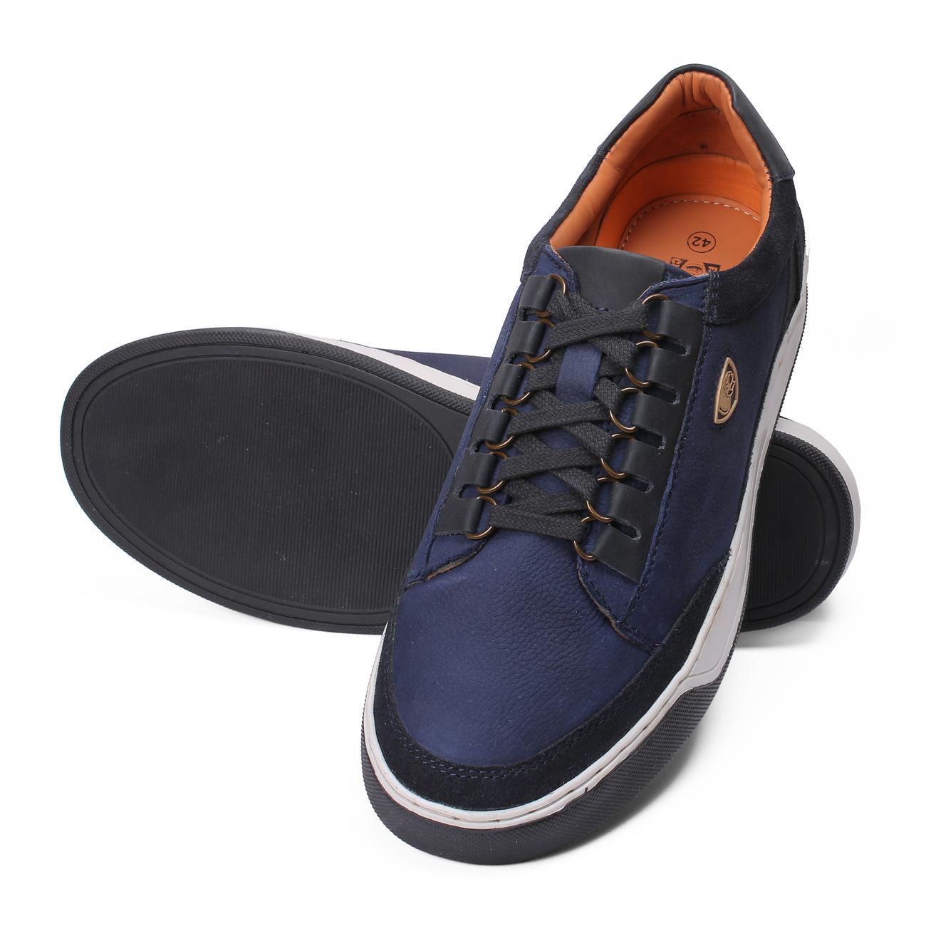 blue original casual leather shoes