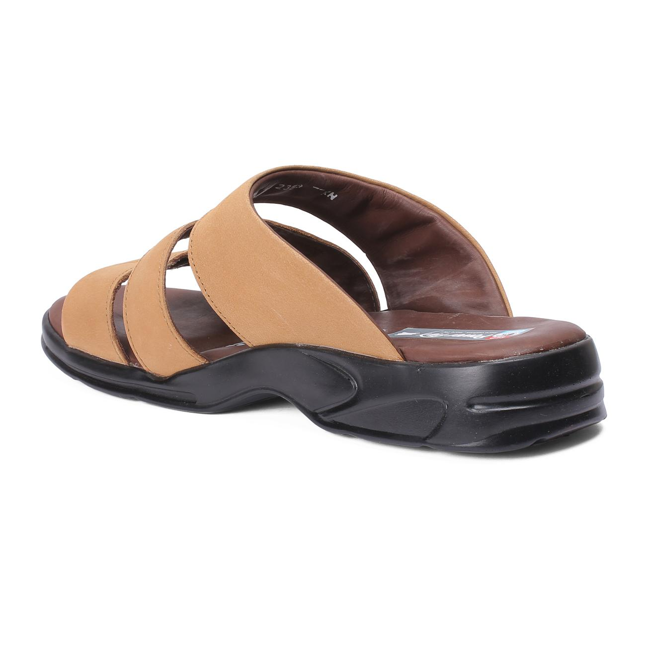 rust slip-on slippers side view_2