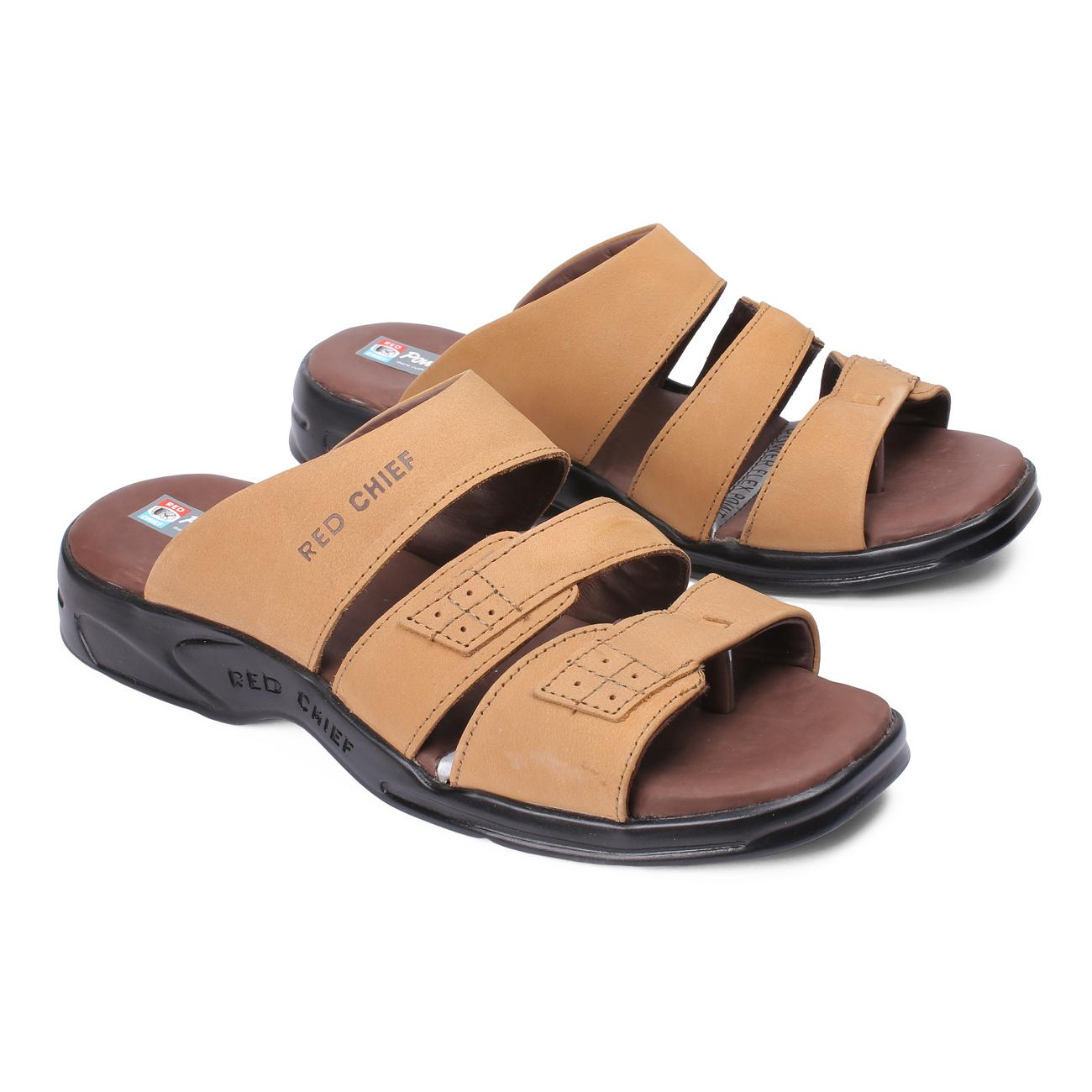 rust slip-on slippers rubber sole