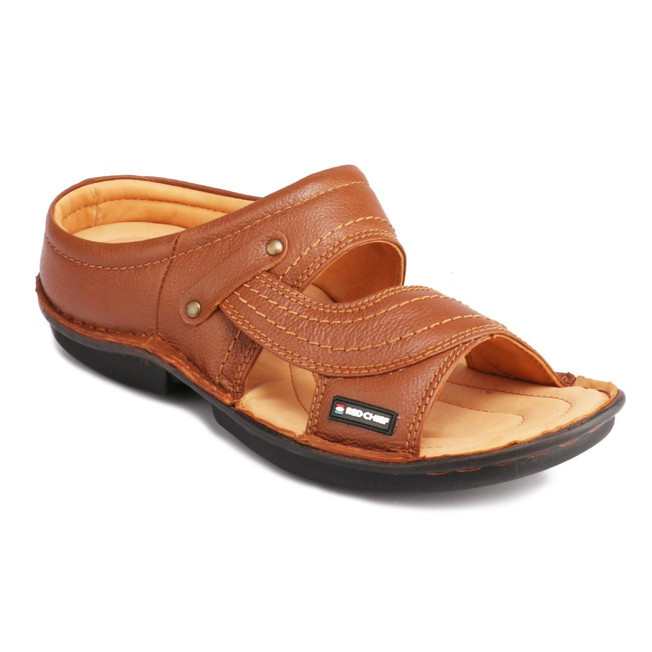 tan slip-on slippers online