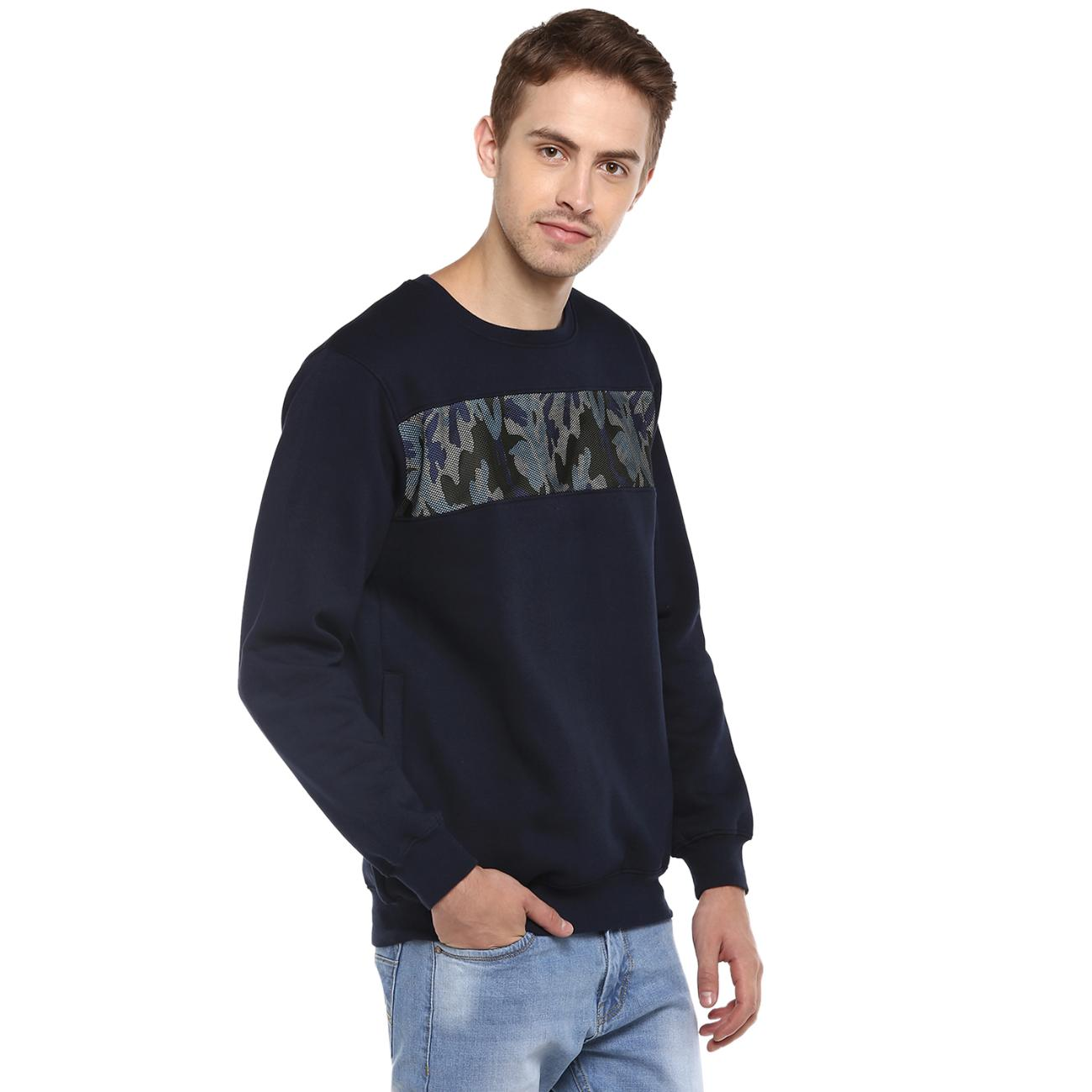 Red Chief Navy Printed Sweater Online for Men