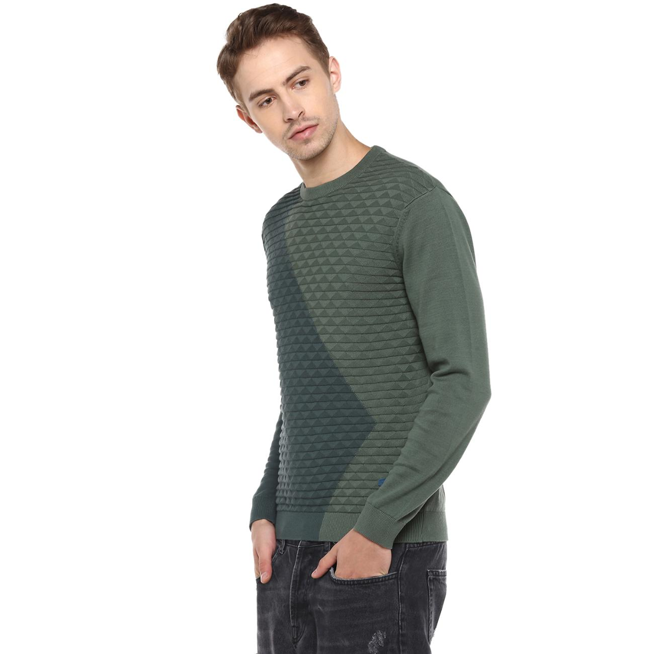 Red Chief Men's Green Sweater