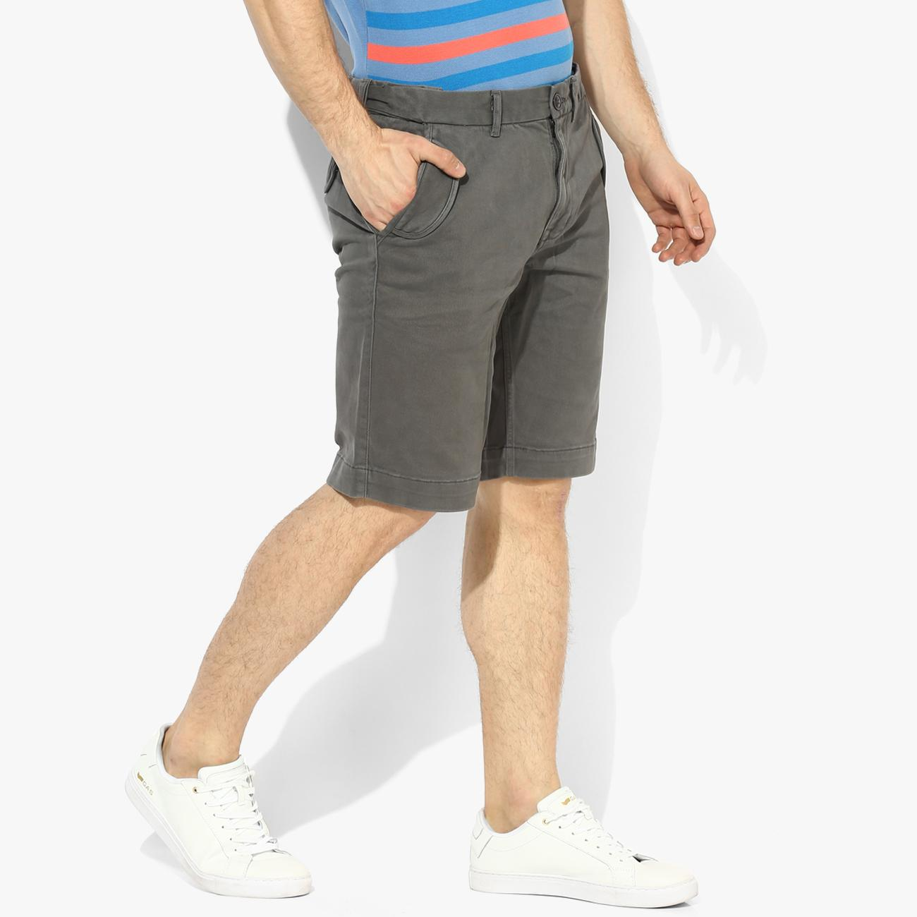 Men's Gray Shorts Online at Red Chief