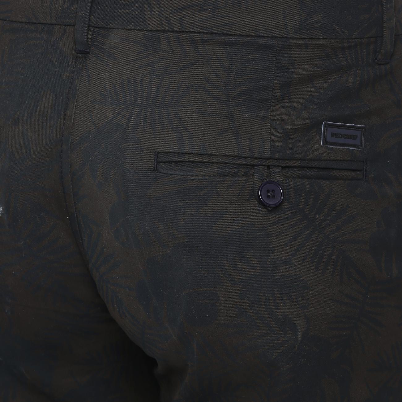 Buy Online Olive/Black Trouser at Red Chief