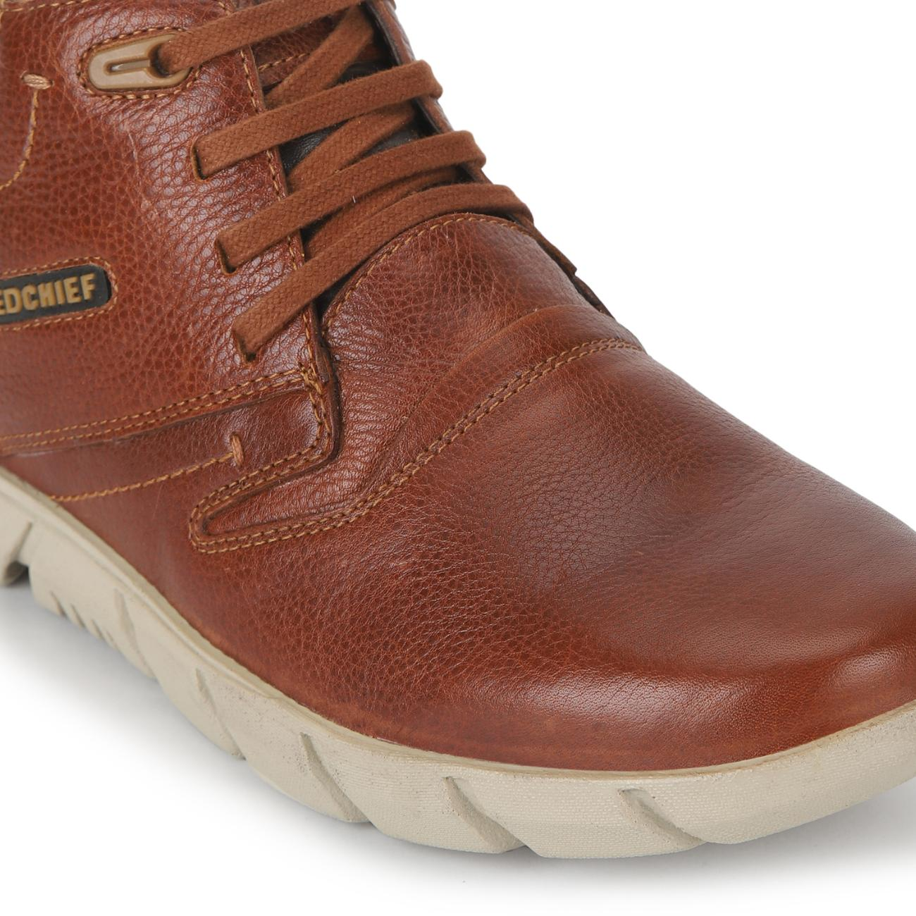 tan casual derby shoes rubber sole