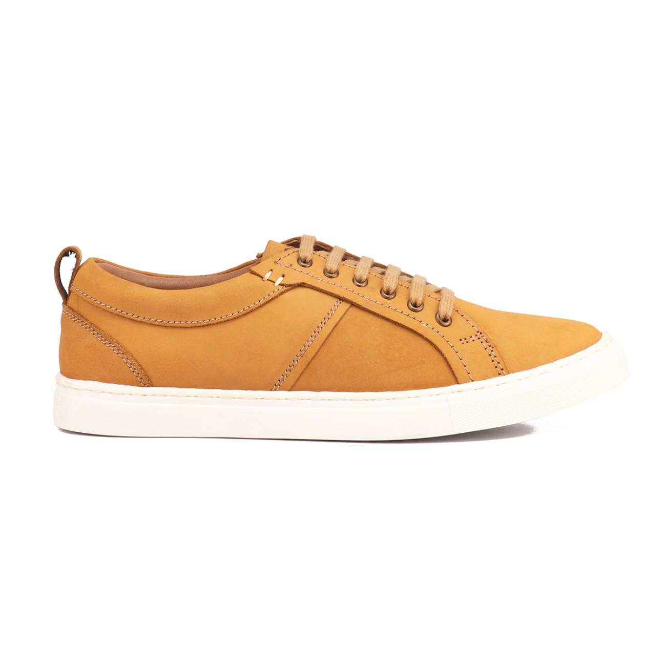 rust casual sneakers side view_2
