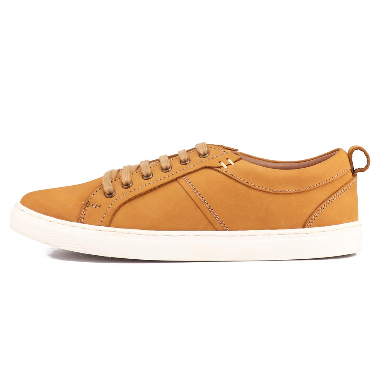 rust casual sneakers from behind