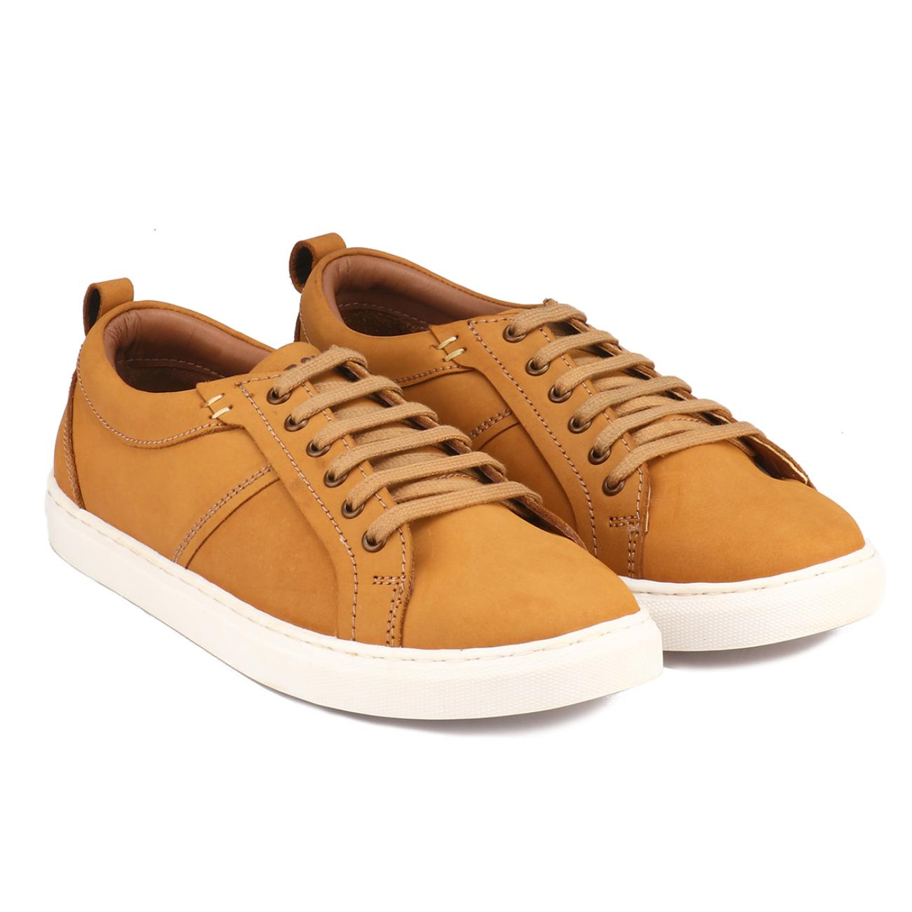 rust casual sneakers rubber sole
