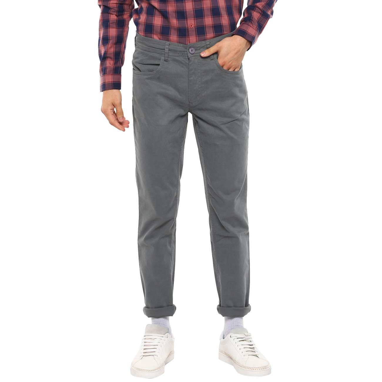 Online Red Chief's Gray Casual Trousers