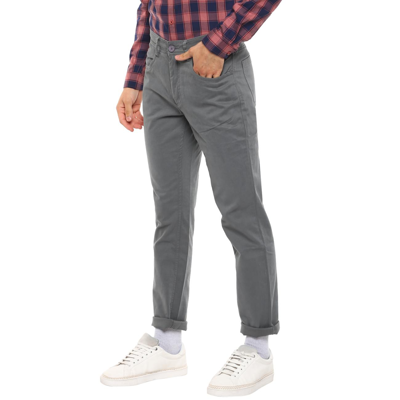 Buy Gray Casual Trousers for Men
