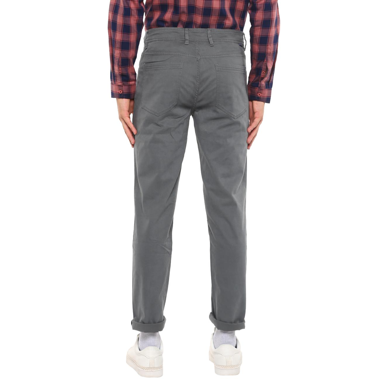 Online Gray Casual Trousers for Men
