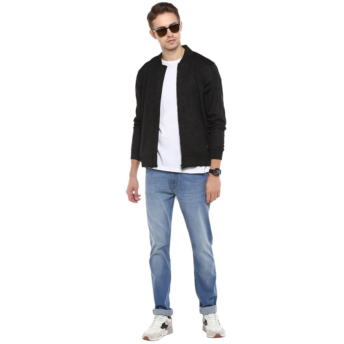 Shop Front Zipper Men's Bomber Jacket
