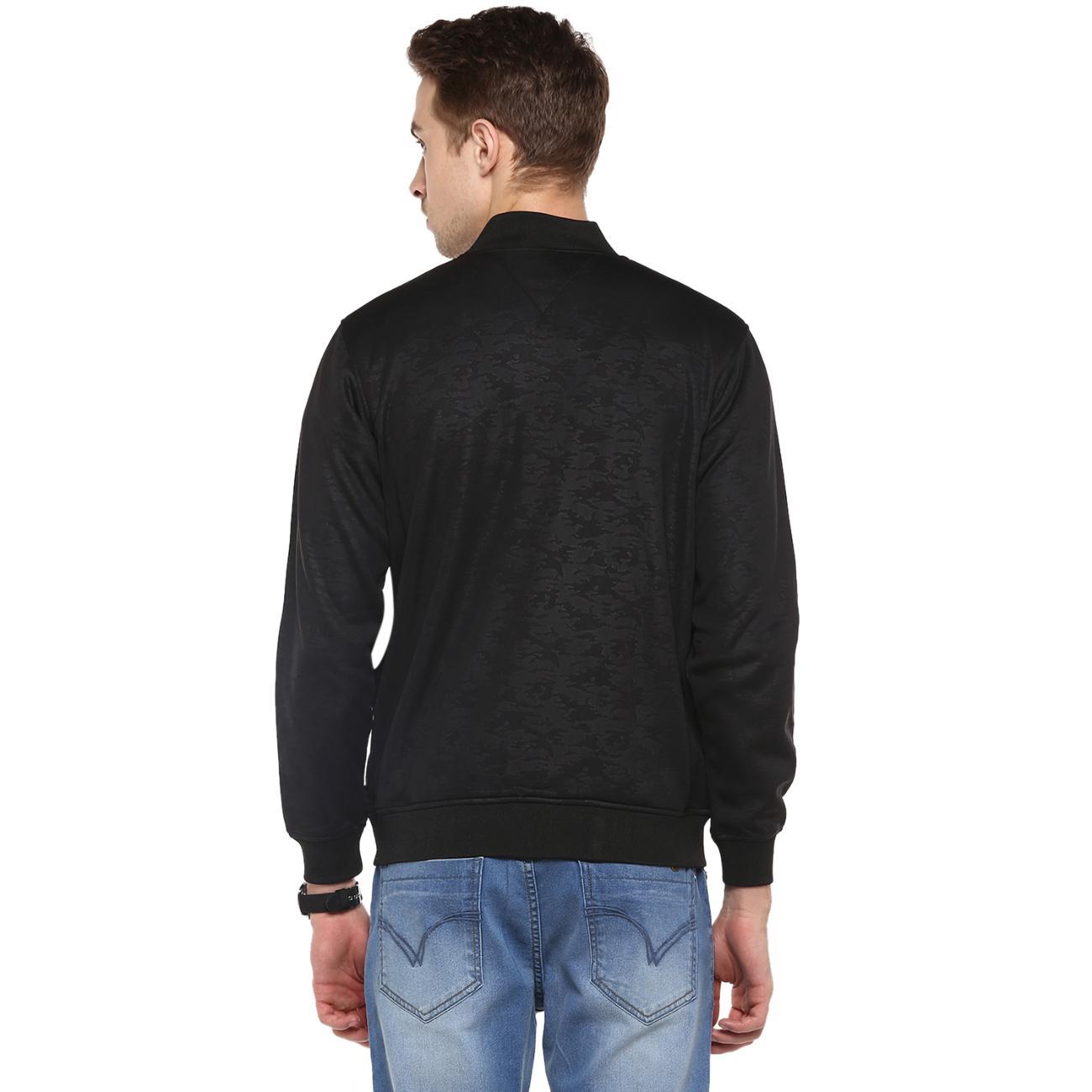 Buy Men's Black Front Zipper Bomber Jacket