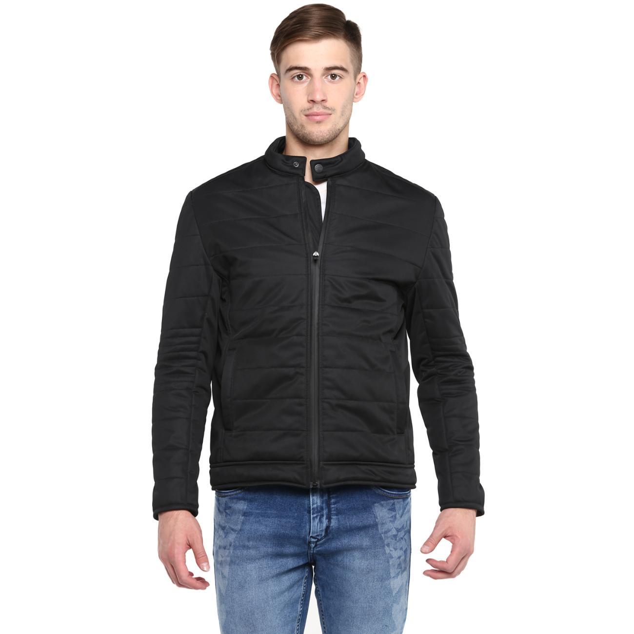 Buy Black Quilted Jacket For Men