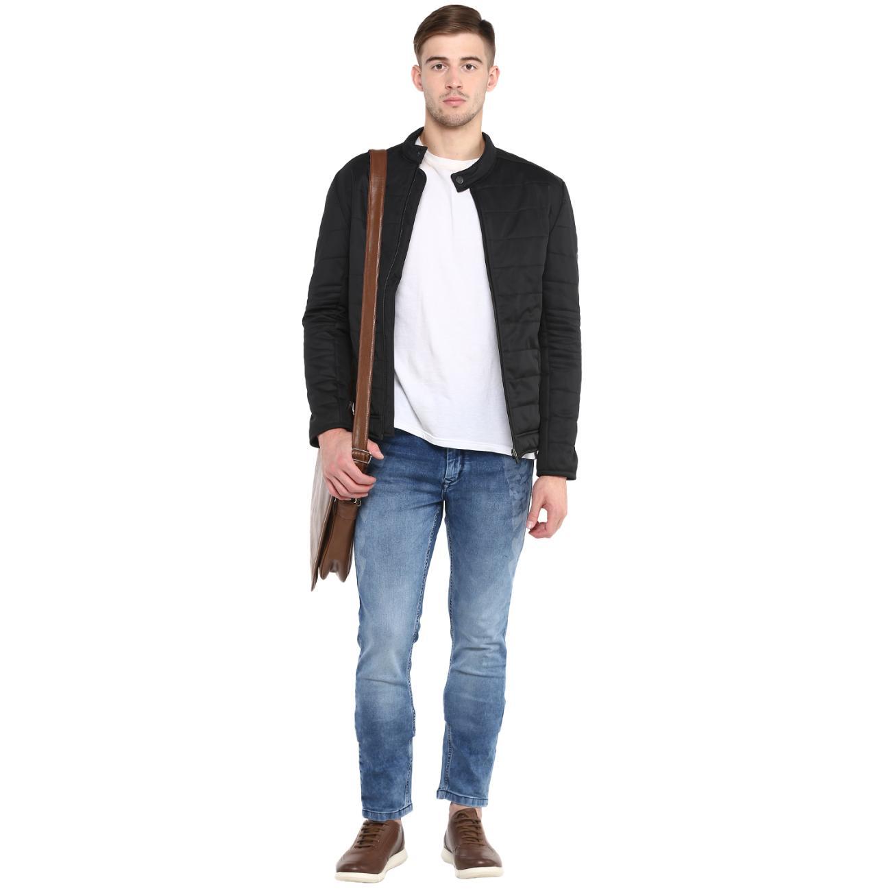 Get Quilted Biker Jacket For Men Online