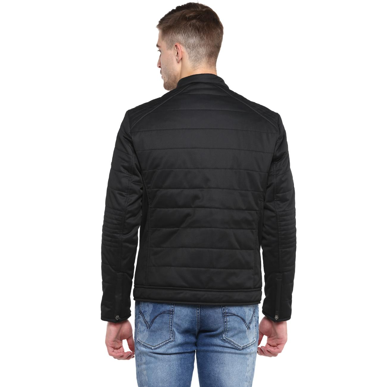 Black Quilted Biker Jacket Online