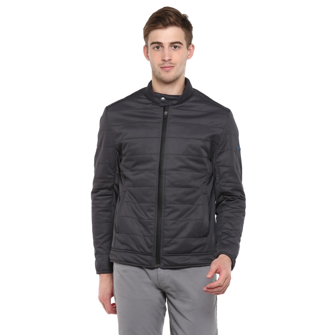 Buy Men's Dark Grey Biker Jacket