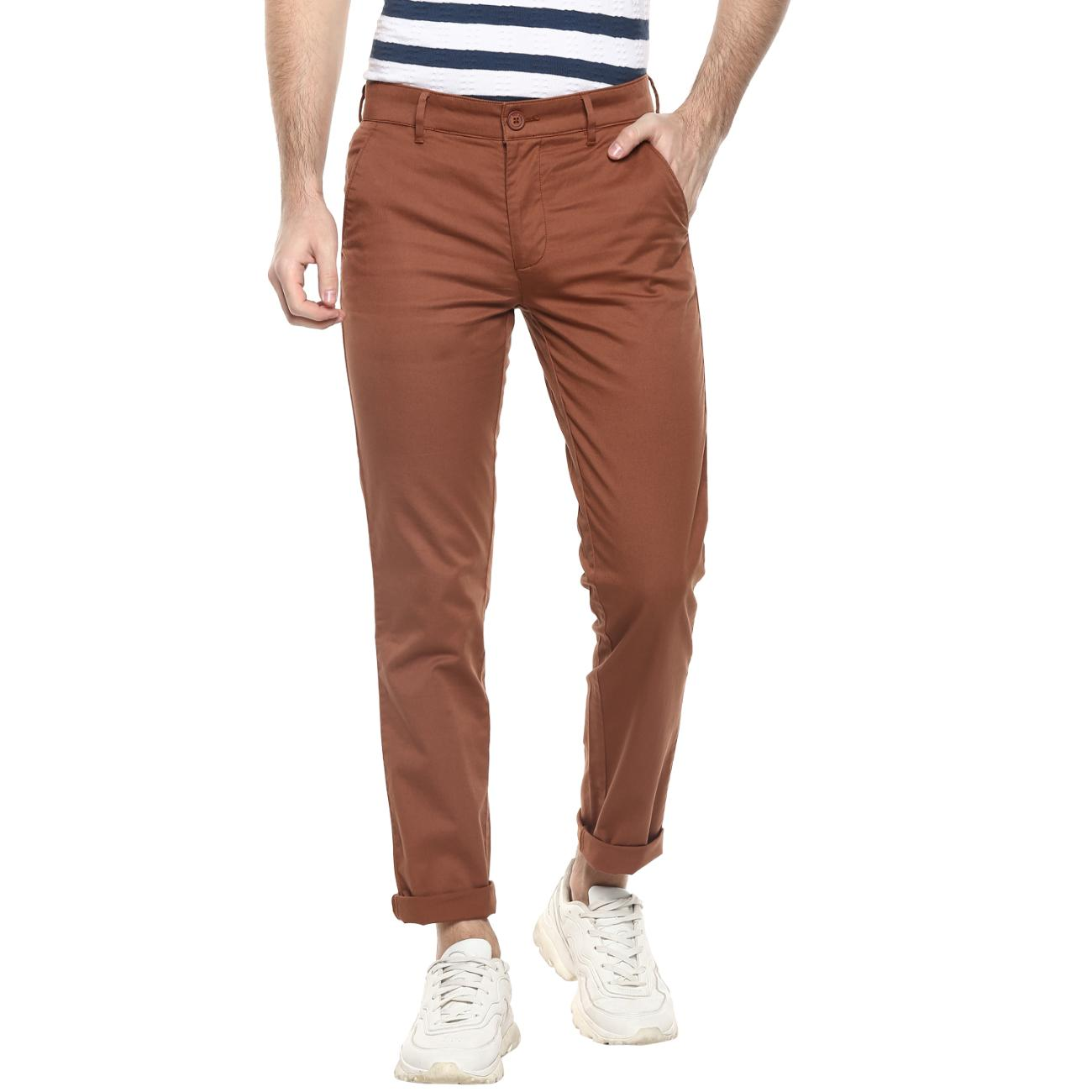 Red Chief Marron Narrow Trouser for Men