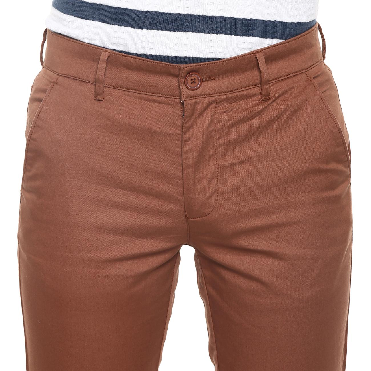 Buy Red Chief Marron Narrow Trouser